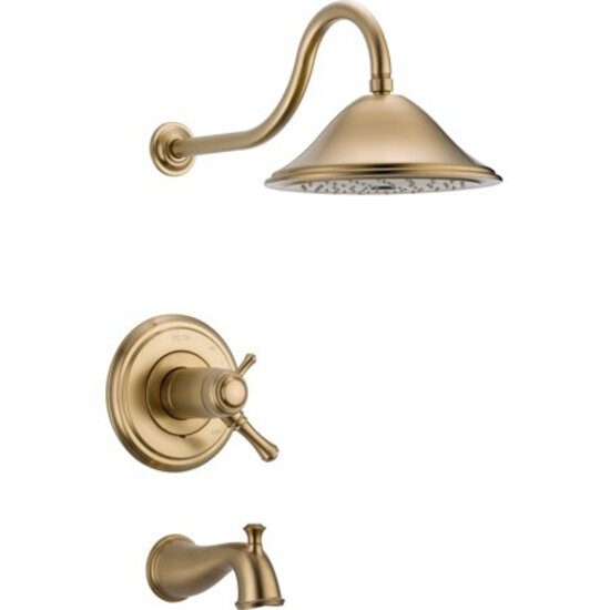 Delta Faucet T17T497-CZ Cassidy MultiChoice 17T Series Tub and Shower Trim, Champagne Bronze