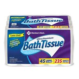 Product of Member's Mark Ultra Premium Bath Tissue, 2-Ply Large Roll (235 sheets, 45 rolls) - Toilet