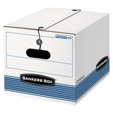 Bankers Box STOR/FILE Extra Strength Storage Box - White/Blue