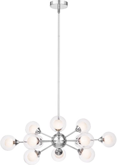 "Spellbound Sputnik Large Chandelier, 12-light, Xenon 480 Watts, Polished Chrome (11""h X 29""w)"