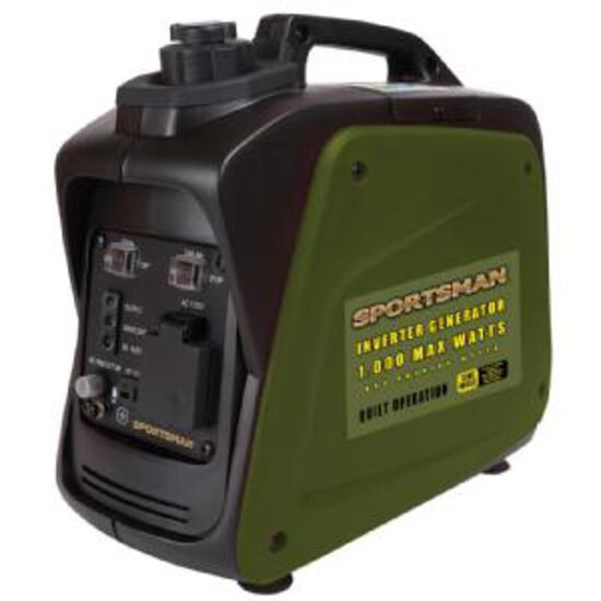 Sportsman Gasoline 1000 Surge Watt Portable Inverter Generator - Green