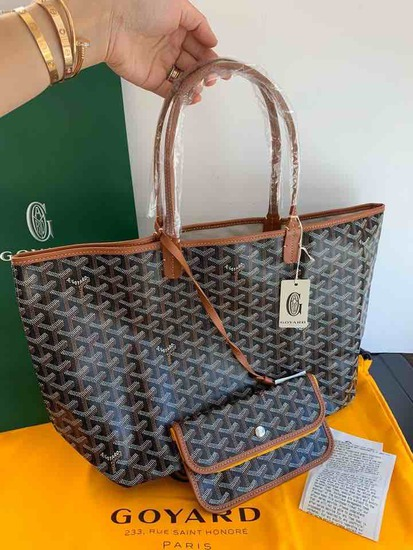 Goyard Honore Paris Brown Trim Tote Purse