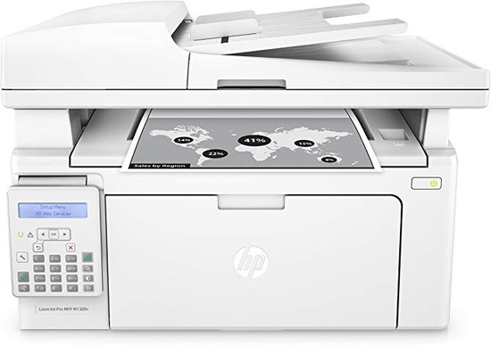 Hp Laserjet Pro M130fn All-in-one Laser Printer - White