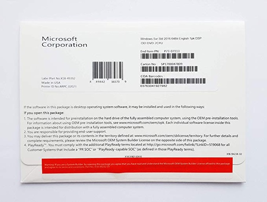 Microsoft Oem Win Pro 10 64bit