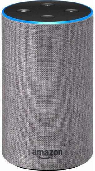 Echo - Smart Speaker with Alexa - Heather Gray Fabric