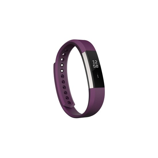 Fitbit Alta Fitness Tracker, Silver/Plum, Large (6.7 - 8.1 Inch)