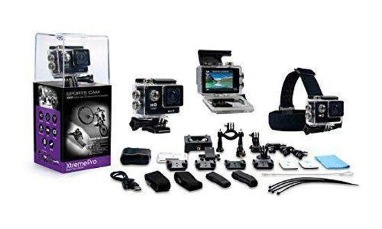 XtremePro Full HD Waterproof Sports Camera Bundle, Black