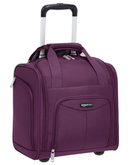 AmazonBasics Carry-On Rolling Travel Luggage Bag with Wheels, 14 Inches