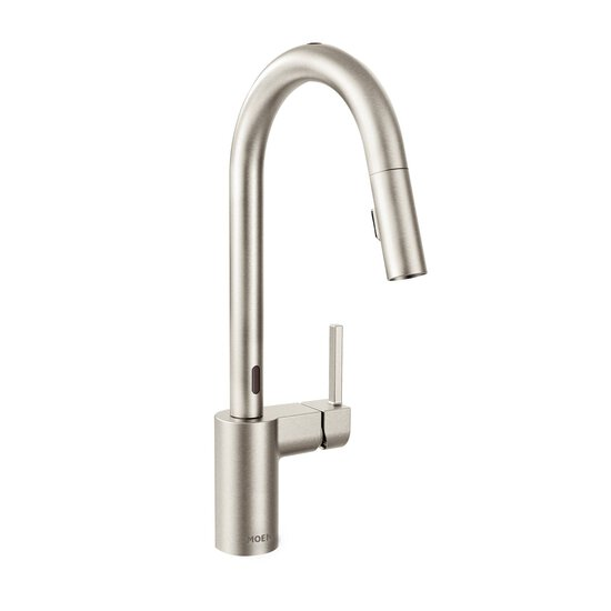 Moen 7565ESRS Align Motionsense Two-Sensor Touchless Modern Pulldown Kitchen Faucet with Reflex