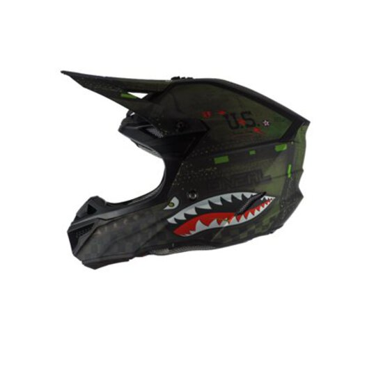 Oneal 2020 5 Series Helmet - Warhawk Black/Green - X-Large