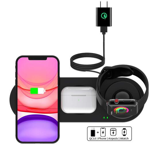 Kartice Wireless Charger 3 in 1 Compatible with Apple Watch, iphone, airpods.