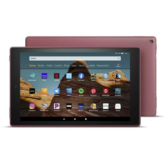 "Amazon - Fire HD 10 2019 release - 10.1"" - Tablet - 32GB - Plum"