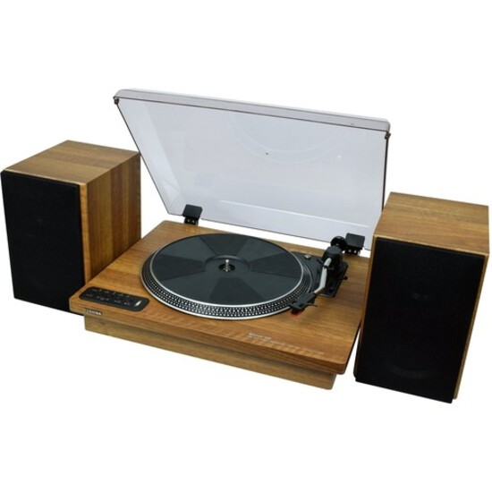 "TY-LP200 12"" Turntable with Stereo Bookshelf Speakers"