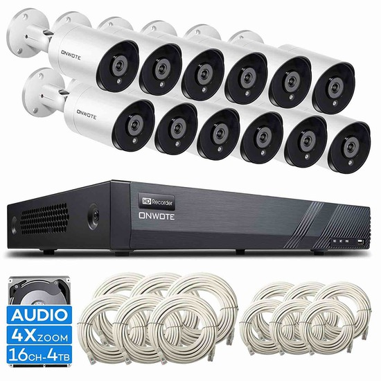 ONWOTE 16 Ch 4K NVR (12)Security Camera System