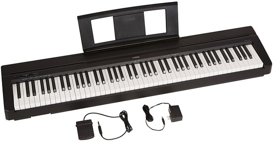Yamaha P71b 88-Key Weighted Action Digital Piano with Sustain Pedal and Power Supply