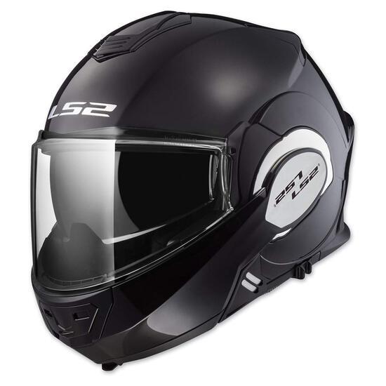 LS2 Helmets Modular Valiant Helmet (Gloss Black - X-Large)