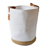 XXL Extra Large Cotton Rope Basket with Handles