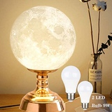 9 Inch 3D Printed Moon Night Table Lamp
