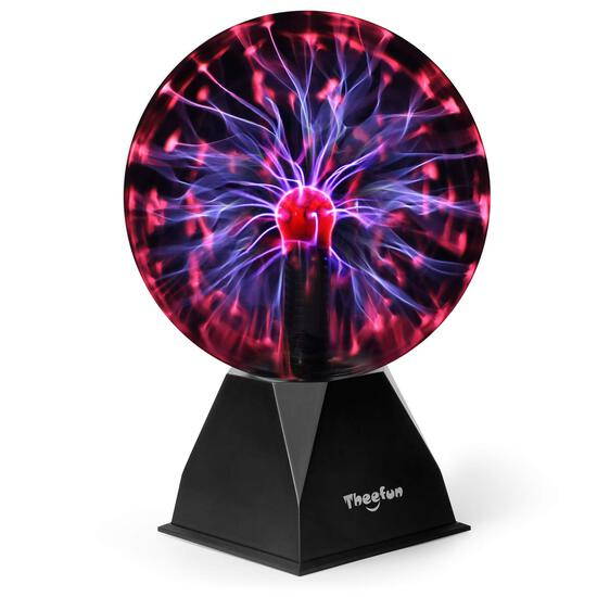 Theefun 8in Magic Plasma Ball Lamp Light