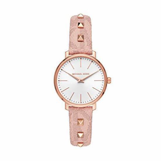 Michael Kors Pyper Two Hand Studded Blush PVC Watch
