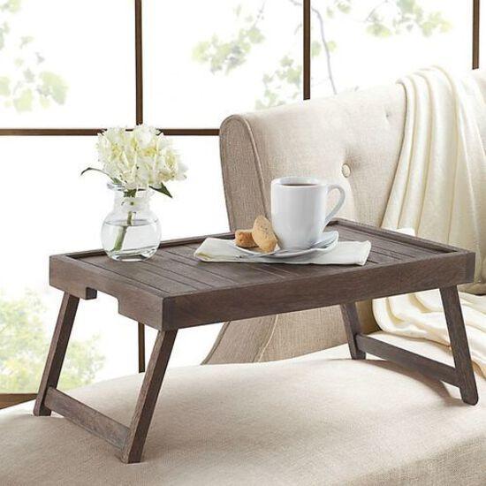 Acacia Wood Portable Bed Tray