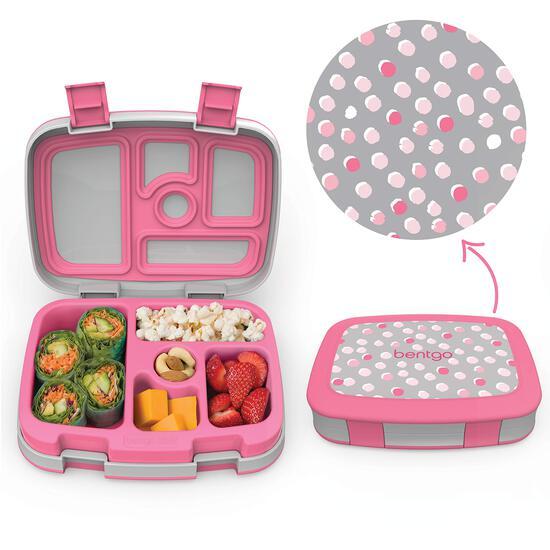 Bentgo Kids Prints Lunch Box (Pink Dots)