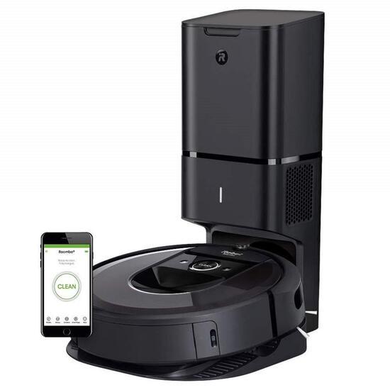 iRobot Roomba i7+ Wi-Fi Connected Robot Vacuum (Black)