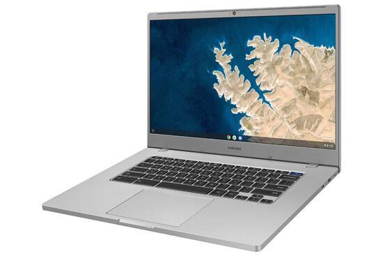 "Samsung Chromebook 4 + Chrome OS 15.6"" - Silver"