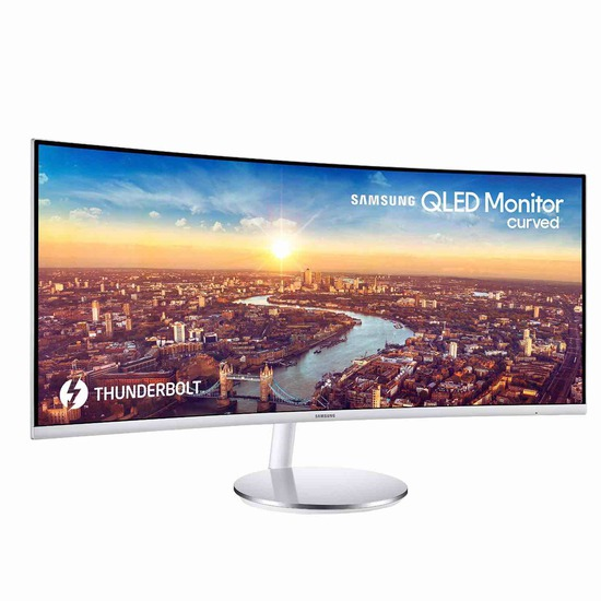 Samsung C34J791 34-inch QHD Ultrawide Curved Monitor with Thunderbolt 3