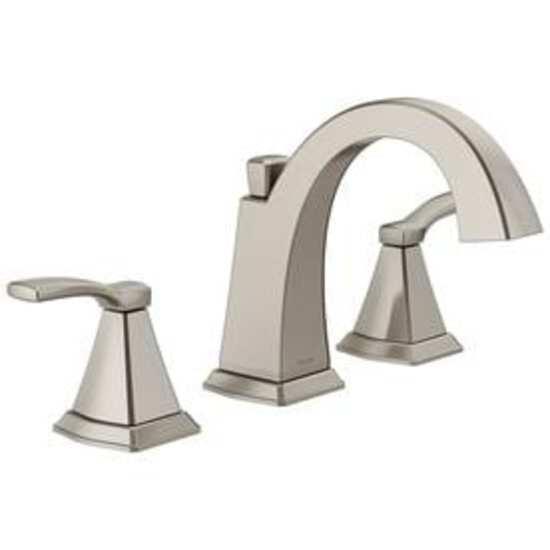 Delta Flynn Brushed Nickel 2-Handle Widespread Bathroom Sink Faucet