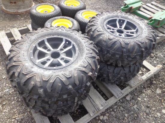 New Maxxis Tires & Fancy Rims For JD Gators, 4 bolt, 26X10.00R12