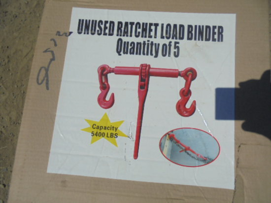 New Ratchet Load Binders, Sold By The Piece x 5