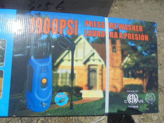 New 1900 PSI Pressure Washer