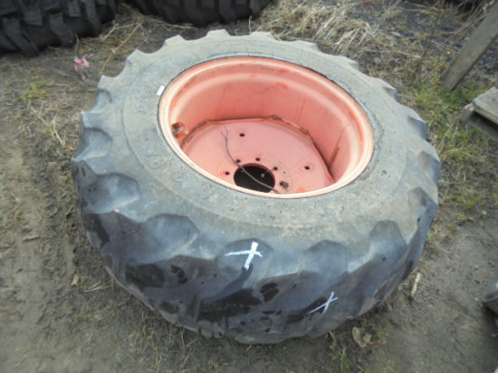17.5-24 Rear Tire & Rim For Kubota L Series Tractors
