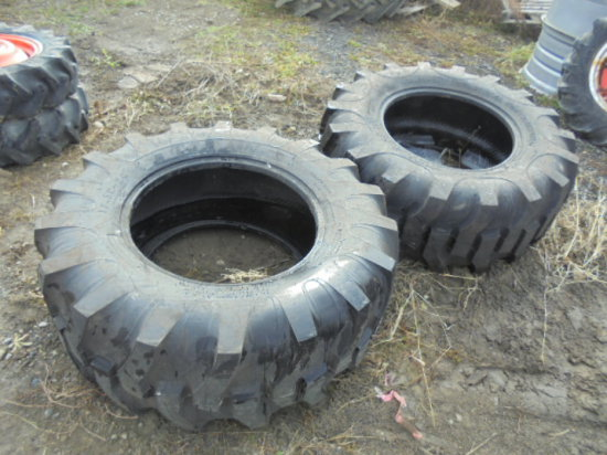 17.5-24 Industrial Tires, Never Mounted, x2