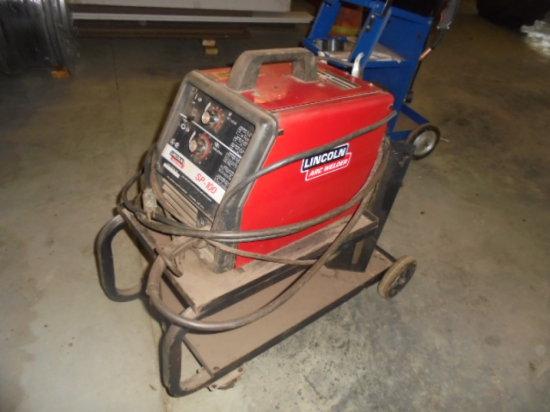 Lincoln SP-100 Mig Welder w/ Cart, 110