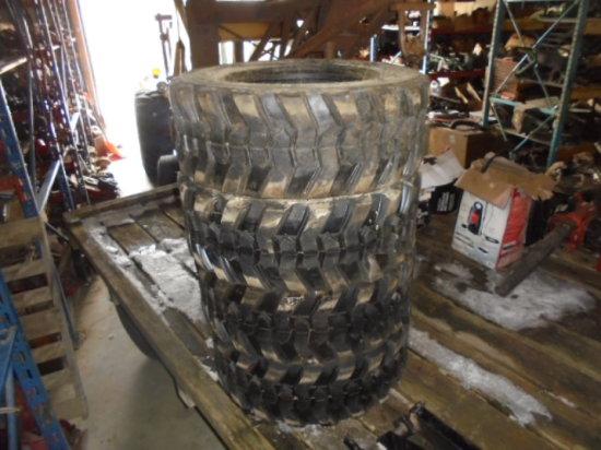 (4) 12-16.5 SSL Tires, 12 Ply, New