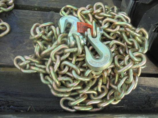 """3/8"""" x 20"""" Heavy Duty Grade 70 Chain w/ Hooks"""