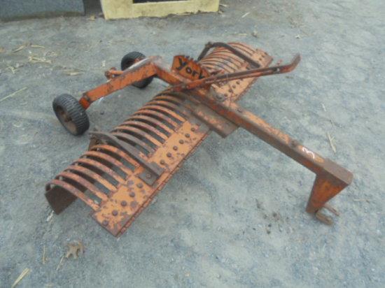 4' York Pull Type Stone Rake