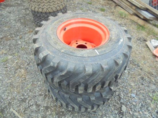Unused 26.12-12 R4 Tires & Kubota Rims Fit BX Series & Others