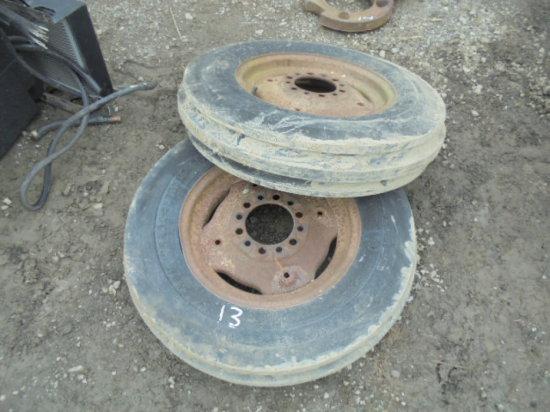 (2) Like New 6.00-16 Tires On 6 Bolt Rims