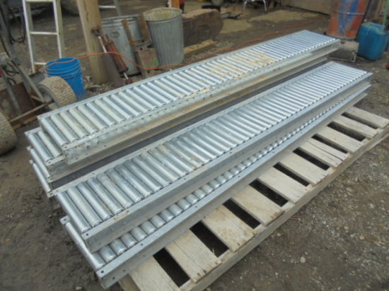 8' Metal Rolling Tables x6