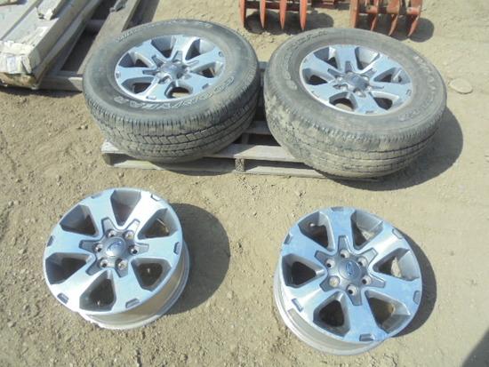 275/65R18 Ford 6 Bolt Rims, 2 On Tires, Nice
