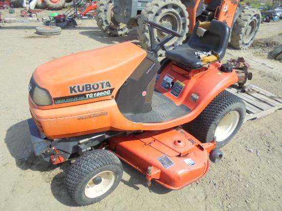 """Kubota TG1860G Riding Mower, 54"""", Power Steering, Hydro, 420 Hours, Runs Bu"""