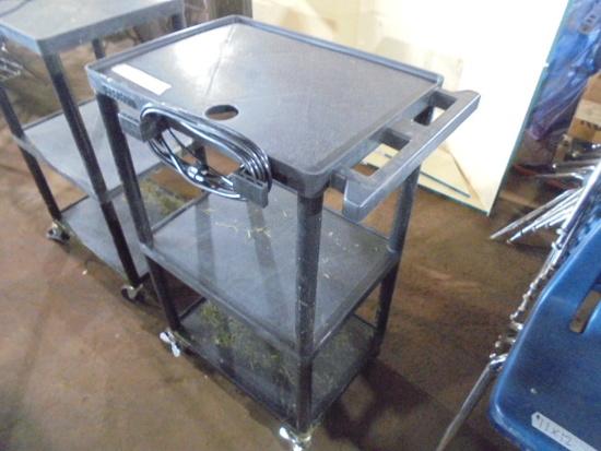 Plastic Rolling Cart w/ Power Strip