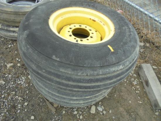 Pair Of 6 Bolt Implement Tires & Rims