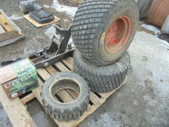 (3) Tires & Rims Off Kubota BX