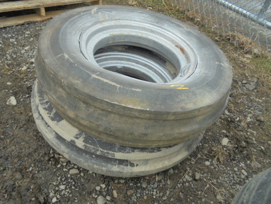 Pair Of 6.50-16 Tires On Farmall Rims