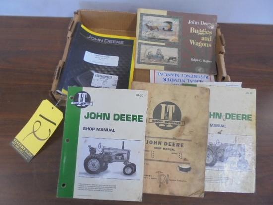 Box Of JD Shop Manuals & Parts Catalogs