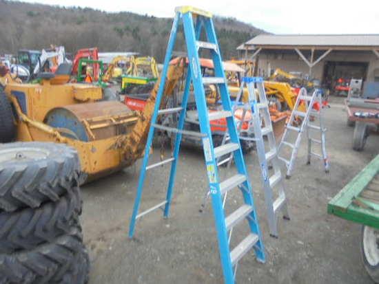 Werner 8' Blue Fiberglass Ladder